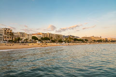 Cannes bay at sunset Royalty Free Stock Photos