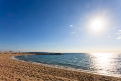 Cannes beach day view, France. royalty free stock image