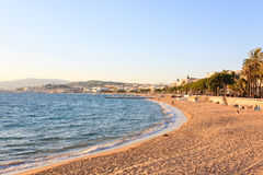 Cannes beach day view, France. royalty free stock photography