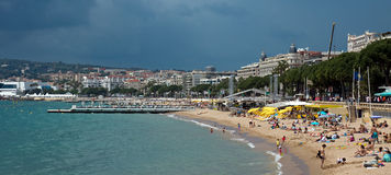 Cannes - Beach Stock Image