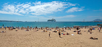 Cannes - Beach Royalty Free Stock Photo