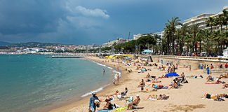 Cannes - Beach Stock Photography