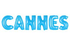 Cannes, blaue Farbe Stockfotografie