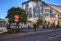 Cannes central bus station, France Royalty Free Stock Photos