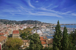 Cannes city from above. View on Cannes city in French Riviera from above Royalty Free Stock Image