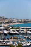 Cannes city view,  Royalty Free Stock Images