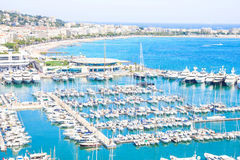 Cannes city view, south of France Royalty Free Stock Photography