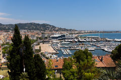 Cannes city view, south of France, summer time Royalty Free Stock Image