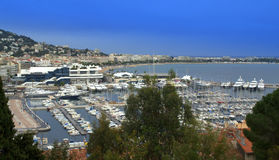Cannes city waterfront,France Stock Photos