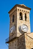 Cannes clock tower. Clock tower in Cannes medieval castle, Cannes, France stock photography