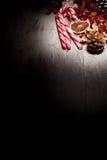Cannes de sucrerie de Noël Photo stock