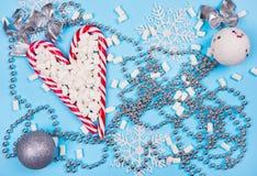 Cannes de sucrerie de Noël Image stock