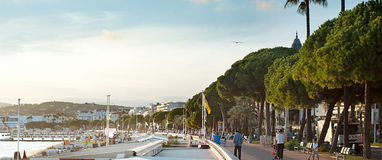 Cannes embankment Royalty Free Stock Photos