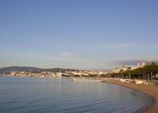 Cannes en el tiempo de mañana Imagen de archivo libre de regalías