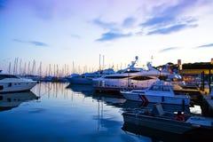 Cannes entro la sera Fotografia Stock