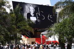 Cannes, festival del DES de Palais Imagen de archivo libre de regalías