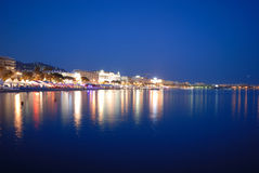 Cannes festival by night Royalty Free Stock Images