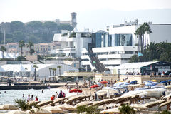 Cannes film festival palace Royalty Free Stock Images