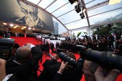 Cannes filmfestival, atmosfär Arkivbild