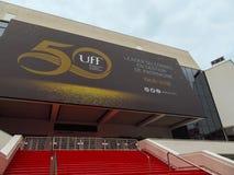 Cannes - filmfestivalslott arkivfoto