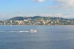 Cannes från havet Fotografering för Bildbyråer