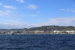 Cannes från havet Royaltyfri Fotografi