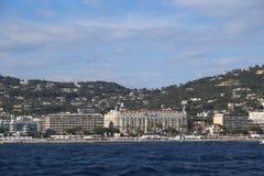 Cannes från havet Royaltyfri Foto