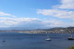 Cannes från Sain Margarite Island Royaltyfria Foton