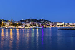 Cannes in France in the evening Royalty Free Stock Photography