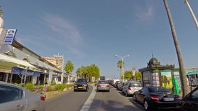 CANNES, FRANCE - JUNE 22: View from the car stock video footage