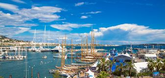 Cannes, France Le Vieux Port of Cannes. Cannes yachting festival royalty free stock image