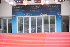 CANNES, FRANCE - MAY 8: A general view of atmosphere on during t. CANNES, FRANCE - MAY 8: CANNES, FRANCE - MAY 8: A general view of atmosphere on during the 71th Stock Photography