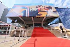 A general view of street Palais de festival. CANNES, FRANCE - MAY 8: A general view of street Palais de festival during the 71th Annual Cannes Film Festival on Royalty Free Stock Photos