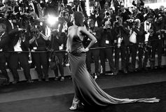 Isabeli Fontana at the premiere for. CANNES, FRANCE. May 20, 2017: Isabeli Fontana at the premiere for `120 Beats per Minute` at the 70th Festival de Cannes Royalty Free Stock Photo