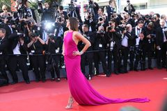 Isabeli Fontana at the premiere for. CANNES, FRANCE. May 20, 2017: Isabeli Fontana at the premiere for `120 Beats per Minute` at the 70th Festival de Cannes Stock Photos