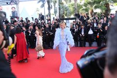 Victoria Bonya at the premiere for. CANNES, FRANCE. May 19, 2017:  Victoria Bonya at the premiere for `Okja` at the 70th Festival de Cannes Royalty Free Stock Image