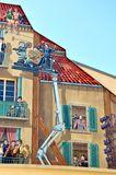 Cannes, France, Murales about Cinema Royalty Free Stock Images