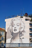Cannes, France, Murales about Marilyn Monroe Stock Image