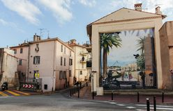 Wall-painting in Cannes. CANNES, FRANCE - NOVEMBER 3, 2014: Wall-painting stock photo