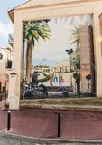 Wall-painting in Cannes. CANNES, FRANCE - NOVEMBER 3, 2014: Wall-painting stock photography