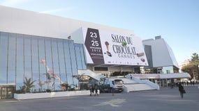 Cannes France-11/18/2013: Palais des-festivaler och des Concgres, royaltyfria bilder