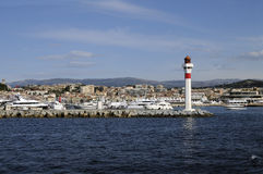 Cannes (France) seen from sea Stock Photos