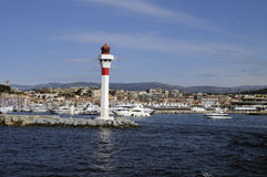Cannes (France) seen from sea stock photo