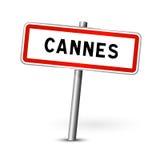 Cannes Francia - segnale stradale della città - bordo del contrassegno royalty illustrazione gratis