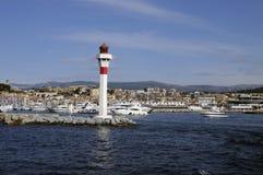 Cannes (Francia) veduto dal mare fotografia stock