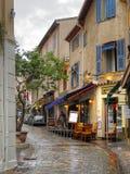 Cannes Frankreich, im September 2017: Ansicht der berühmten alten Stadt der historischen Mitte Lizenzfreies Stockbild