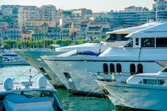 Cannes Frankreich Marina Boats lizenzfreie stockfotografie
