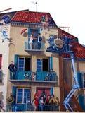 Cannes: gemaltes Haus Lizenzfreies Stockbild