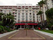 Cannes - hôtel Barriere majestueux photographie stock