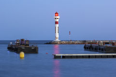 Cannes harbor lighthouse Stock Image